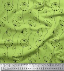 Soimoi-Green-Cotton-Poplin-Fabric-Artistic-Floral-Printed-Fabric-6hz