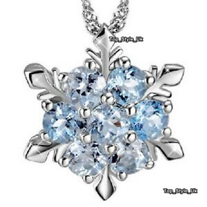 Women-Gifts-Aquamarine-Snowflake-Silver-925-Necklace-for-Her-Present-Girls-GF-B2
