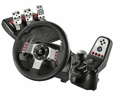 Logitech G27 Racing Gaming Steering Wheel PS3 PC w/ Pedals+Shift Knob 941-000045