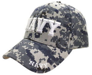Details about U S  Navy 3D Letters Embroidery Digital Camo Licensed  Baseball Cap Hat