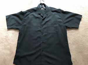 Cumran Dark Blue Gray 70% Polynosic Casual Button Front Shirt Sz M