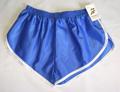 S nylon di Trim con Sprinter Royal retrò Shorts in A bianco raso 4xl wfYvq1