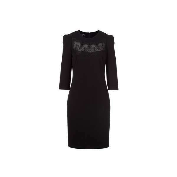 410 APART GORGEOUS EVENING COCKTAIL 3/4 SLEEVES BODYCON BLACK DRESS SIZE S/M