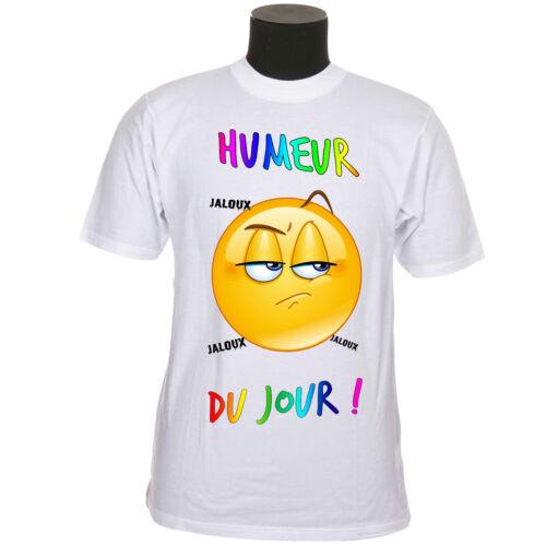 Tee-shirt adulte ado jaloux humeur du jour réf 68