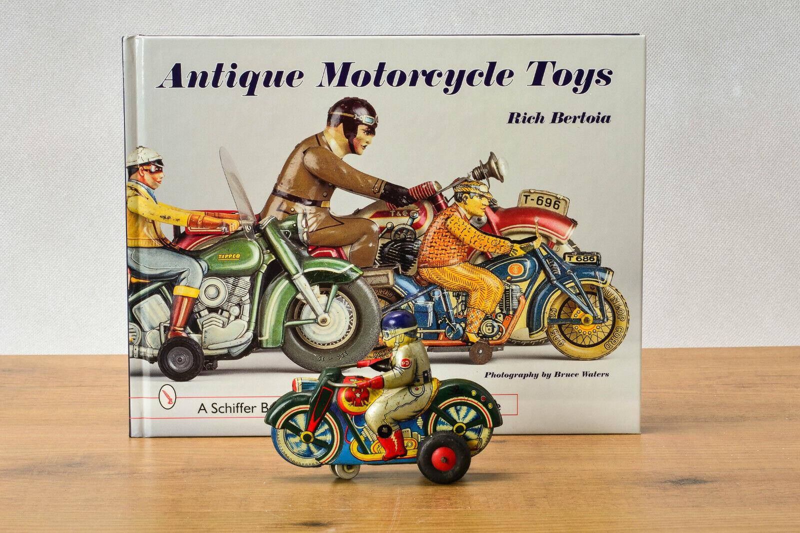 _AntiqueTin leksakjapaner Takahashi Boeki Honda Motorcycle med Driver japan
