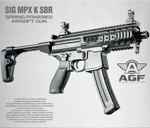 MPX-K-SBR-Air-Gun-Spring-Power-Pistol-Tommy-6mm-BB-Toy-Kids-Children-Military