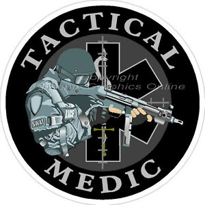 Tactical-Medic-Star-of-Life-Reflective-Decal-Sticker-SWAT-EMS-Paramedic-Police