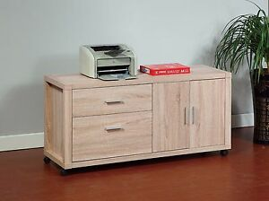 Image Is Loading Weathered White Home Office Organizer File Credenza Storage