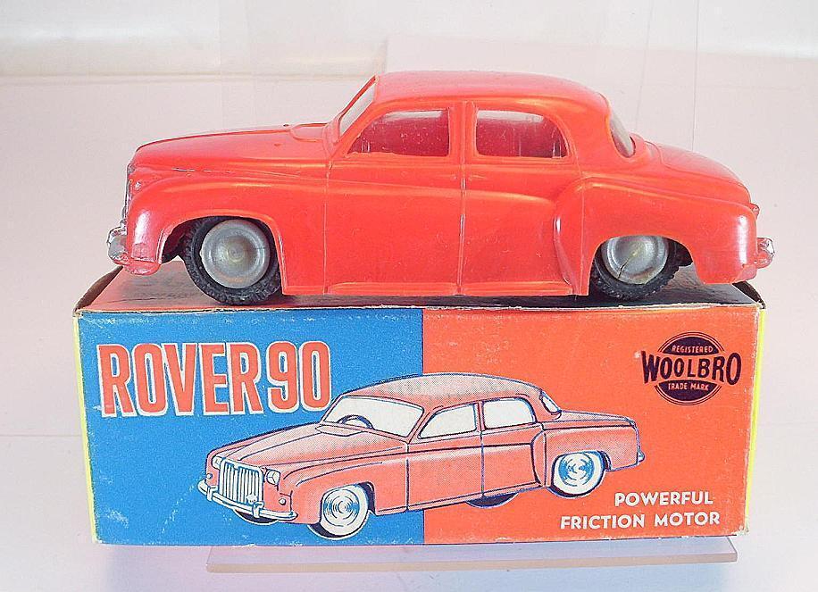 Woolbro Hong Kong Plastik Rover 90 rot mit Friktion in O-Box  5352