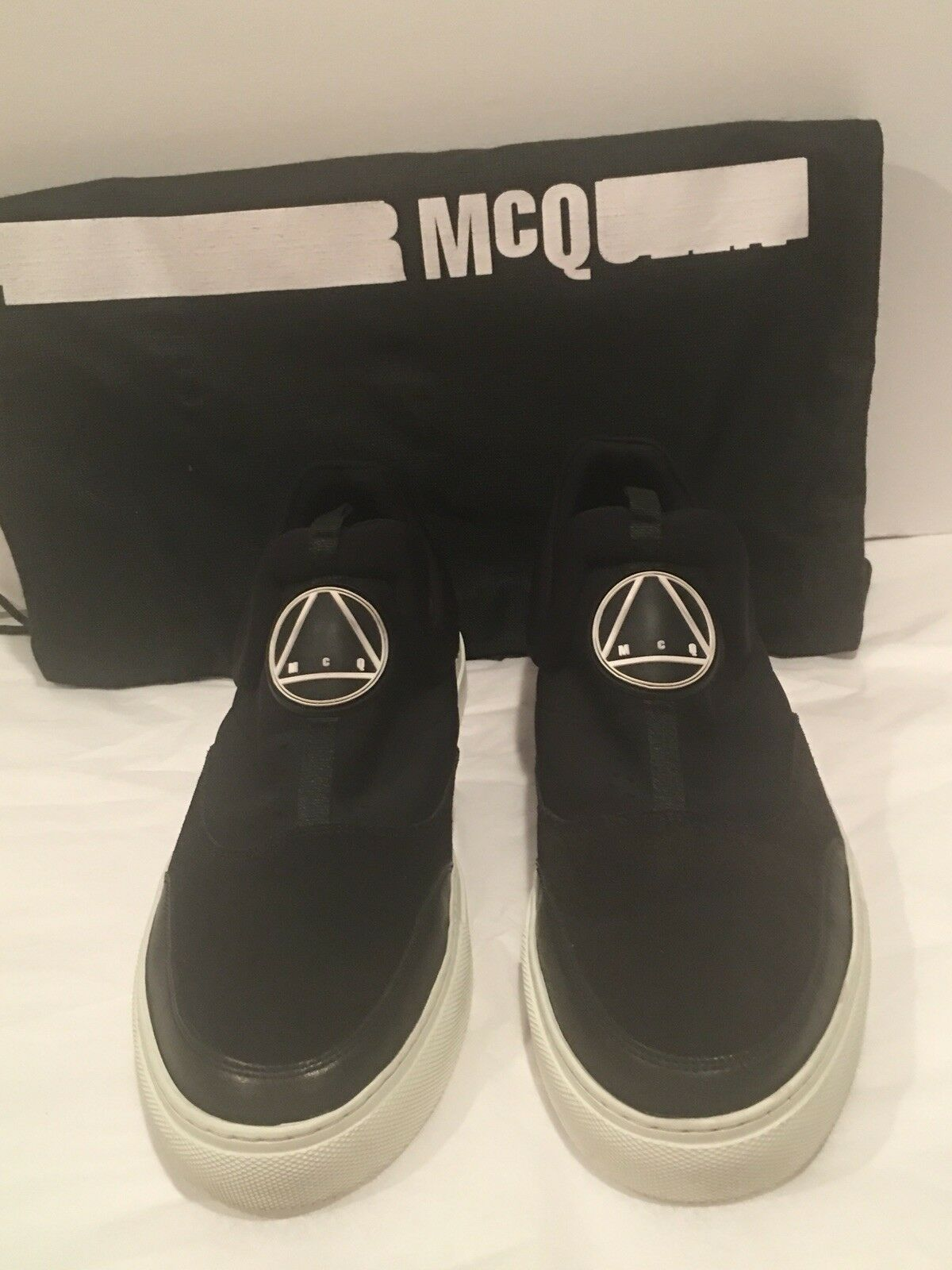 ALEXANDER McQUEEN McQ Men's slip-on leather nylon sneakers size 43EU or 10 US