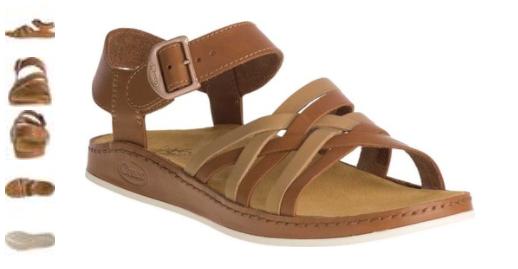 Chaco Fallon Sand Leather Ankle Strap Comfort Sandal Women's sizes 5-11 NIB