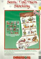 Dimensions Charles Wysocki Santa Collection Counted Cross Stitch Stocking Kit
