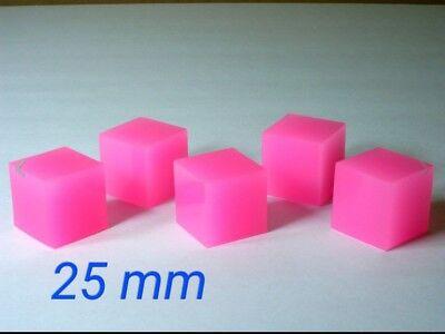 5 Pink Energon Cubes for Masterpiece Transformers MP Optimus Megatron Soundwave
