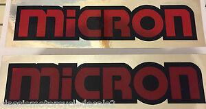 Details about MICRON EXHAUST DECALS KH250 RD400 Z1 900 GS1000 CB750 FS1E  AP50 GT750 X7 GT RD