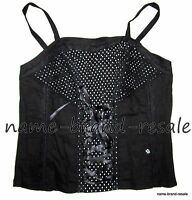 Tripp Nyc Torrid Corset Plus Size 1x 14 16 Black Polka Dot Rockabilly Pin Up