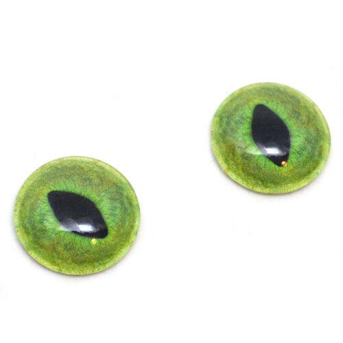 Glass Doll Eyes 6mm Pale Green Cat Realistic Animal Eye Jewelry Taxidermy Art