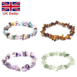Crystal Chip Gemstone Bead Bracelet New Age Healing Chakra Reiki Jewellery