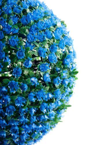 2 migliore Artificiale 38 cm BLUE ROSE ARTE Topiaria Palline da appendere FIORI ERBA PIANTE NUOVO