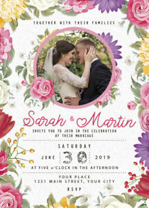 Details About Wedding Invitation Cards 3 Template Editable Photoshop Psd Gimp Digital