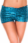 Women Sequin Full Panties Shorts -8 Vibrant Colors- One Size- Dancewear-Cosplay