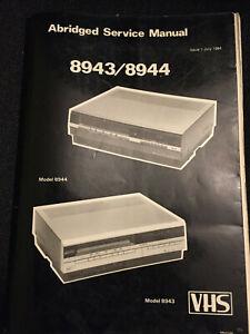 Ferguson-8943-amp-8944-service-manual-comprenant-un-schema-de-circuit-amp-liste-de-pieces