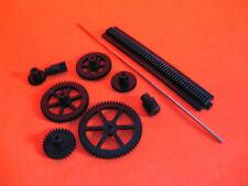 hobby plastic gears cog wheels worm & gear interlocking rack  2mm centre hole
