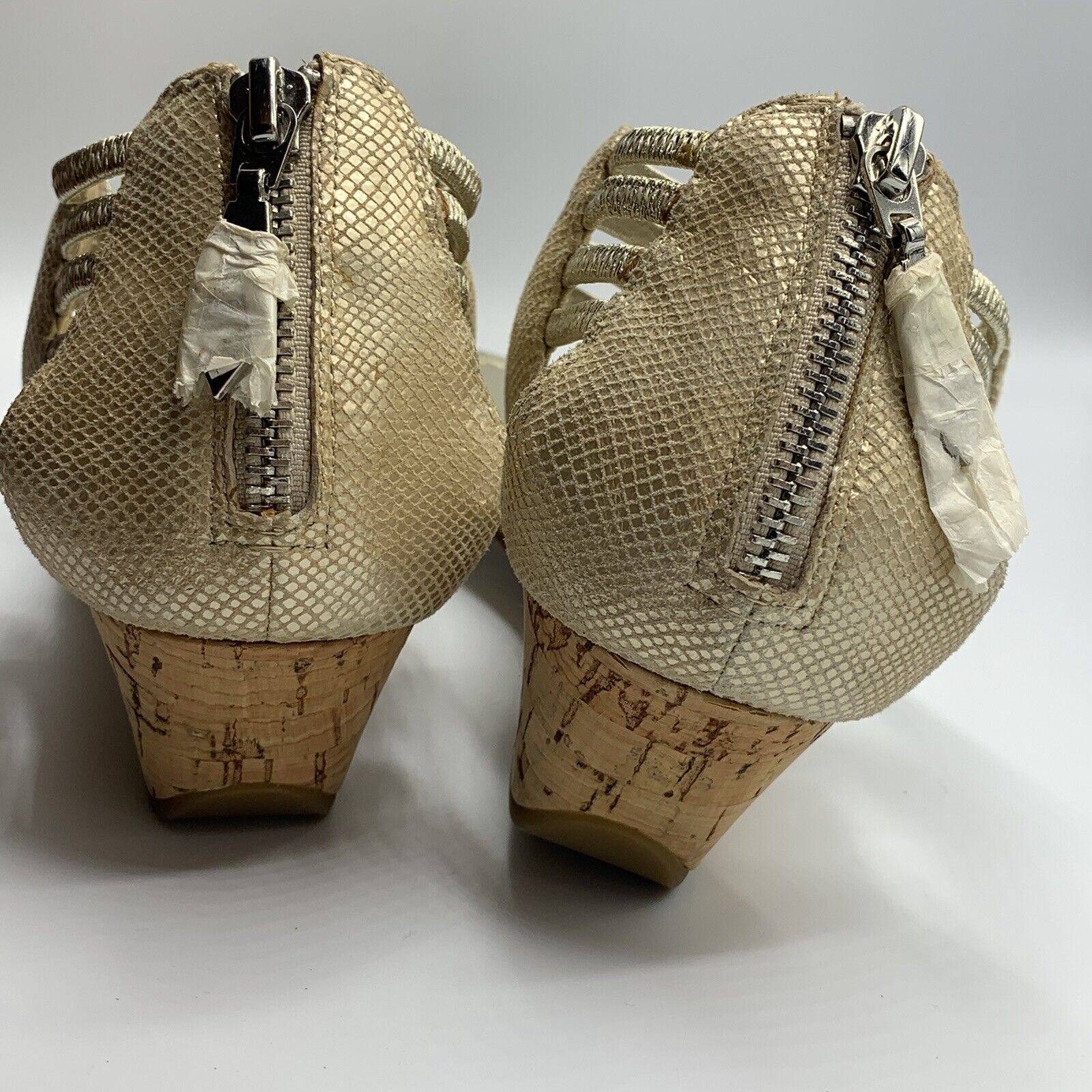 gold strappy sandals - image 3