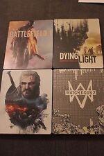 STEELBOOK LOT Battlefield 1, Witcher 3, Watch Dogs 2, Dying Light - G2 NEW!!
