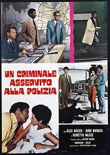 CINEMA-soggettone UN CRIMINALE ASSERVITO ALLA POLIZIA rocco, rhodes, mcgee,MARKS