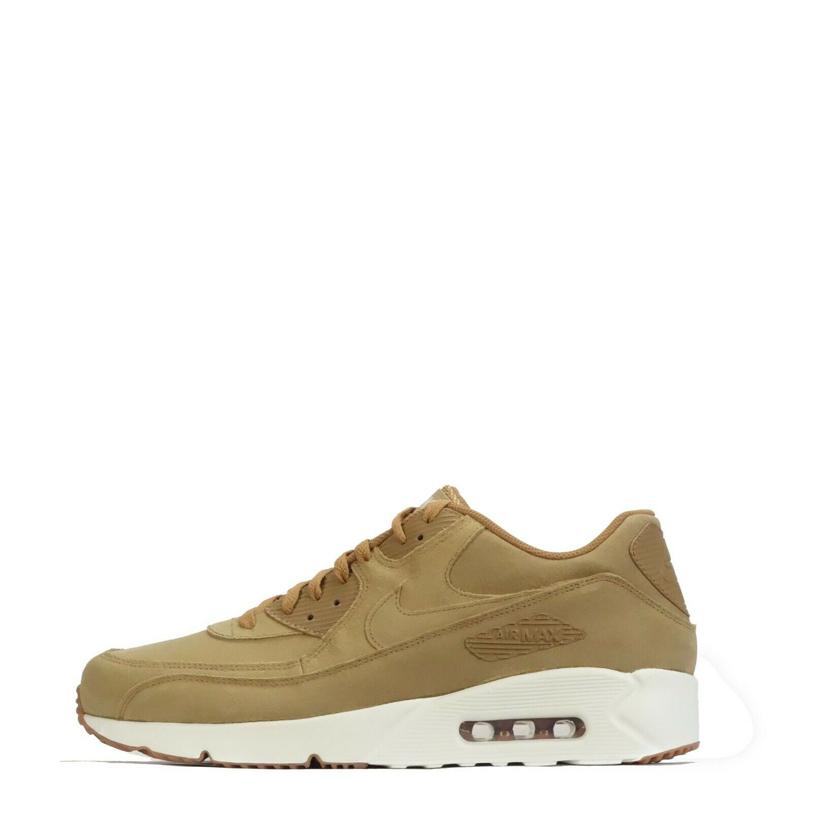 Nike Air Max 90 Ultra 2.0 Leather Men's Trainers, Flax Sail