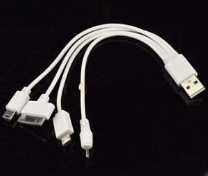 Details about 4 in 1 USB Sync Data Charger Cable for iPhone 4 4S iPod Nokia Samsung HTC LG