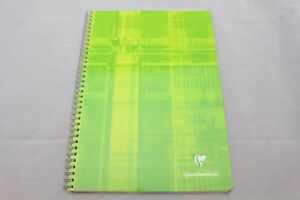 Clairefontaine-Classic-Wirebound-Notebook-8-25-034-X-11-34-034-French-Ruled-Green