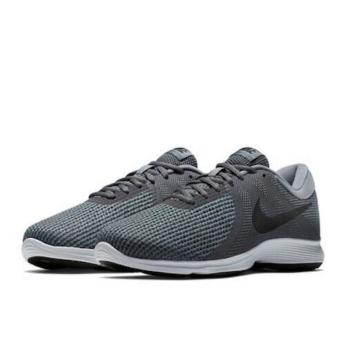 Nike Revolution 4 4E Wide Men's Running Shoes AA7402 Grey White size 9 9.5