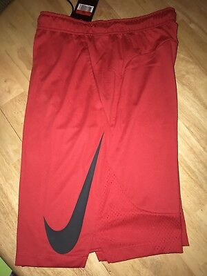 Activewear Bottoms Forceful Nike Men's Dri-fit Training Basketball Shorts Red Black 871720 657 Activewear