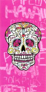 Serviette Plage Tete De Mort.Details Sur Serviette De Plage Drap De Bain Tete De Mort Mexicaine Crane Rose