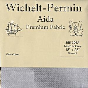 Wichelt-Imports-PREMIUM-Cross-Stitch-Fabric-AIDA-16ct-18-034-X-25-034-TOUCH-OF-GREY