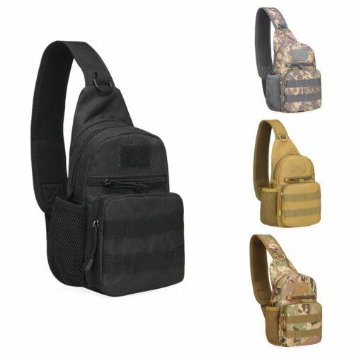 Men Backpack Molle Tactical Sling Chest Shoulder Bag Waist Pack Bag Outdoor USA