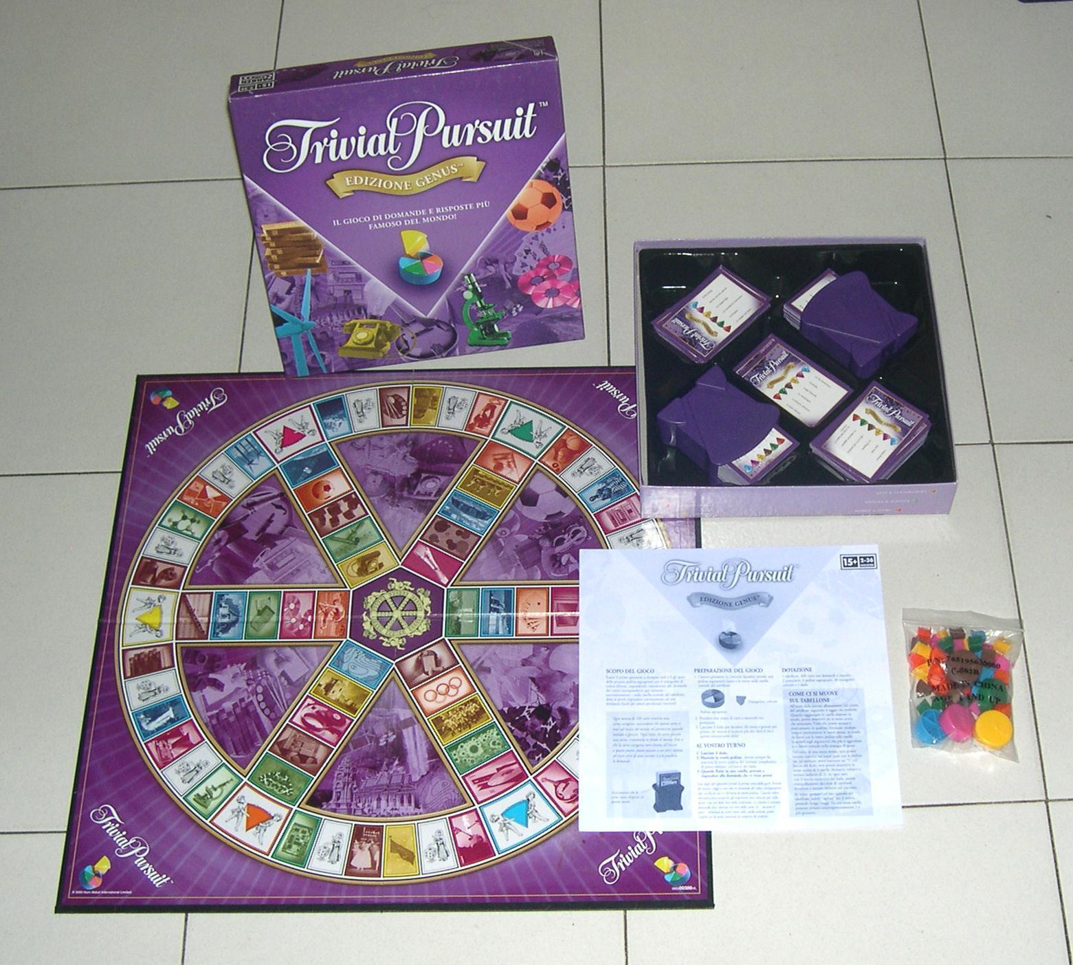 TRIVIAL PURSUIT Edition genre et Parker 2005 PARFAIT boite violet