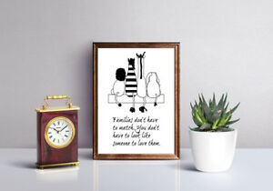 INSPIRATIONAL MOTIVATIONAL FAMILY POSITIVE QUOTE  A4 POSTER PRINT WALL ART