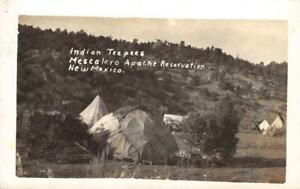 RPPC-MESCALERO-APACHE-RESERVATION-Native-American-Indian-NM-Vintage-Postcard