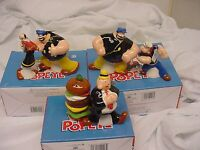 3 Sets Popeye Olive Oyl & Brutus - Wimpy Hamburger Salt And Pepper Shakers