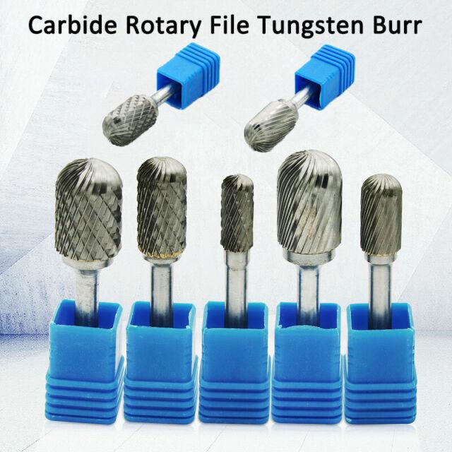 6mm Shank Carbide Rotary File Burr Tungsten Cutter Grinding Shank Drill Bit Head
