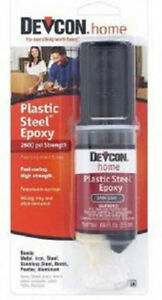 DEVCON Plastic Steel Epoxy 0.84oz. syringe (25 ml) 6 cards (gl62345x6)