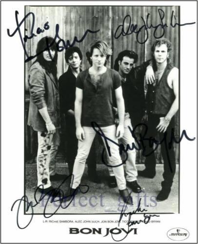 Bon Jovi SIGNED AUTOGRAPHED 10X8 REPRO PHOTO PRINT
