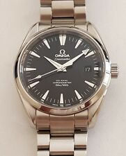 Elegant OMEGA Seamaster Aqua Terra Automatic Co-Axial Men's Watch~Black Face~WOW