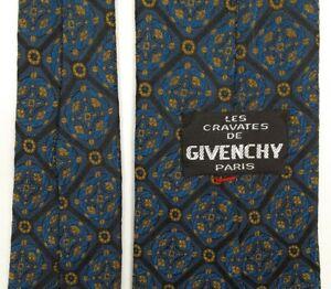 LES-CRAVATES-DE-GIVENCHY-Paris-SILK-TIE-Men-039-s-Narrow-Necktie-Abstract-Geometric