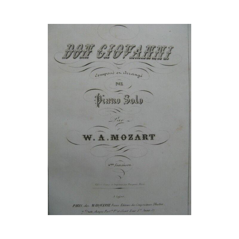 MOZART DONIZETTI WEBER Opera Piano solo ca1850 partition sheet music score