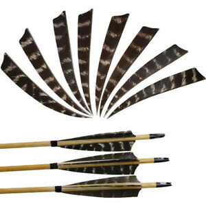 "7.8/"" 50//100//200pcs Archery Arrow Fletching Natural Color Turkey Feathers RW"