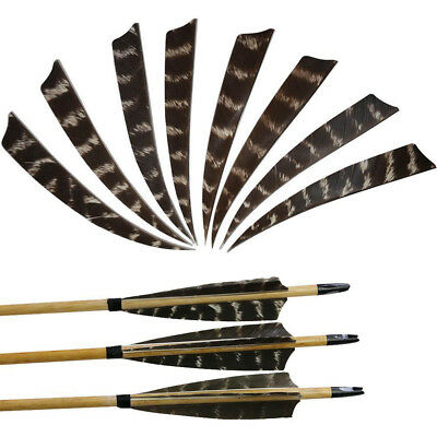 """Traditional Shield Natural Barred Turkey Feathers 4/""""//5/"""" Archery Arrow Fletching"""