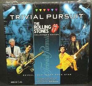 NEW The Rolling Stones Trivial Pursuit Collectors Edition Game MIck Jagger Lips 700304042224